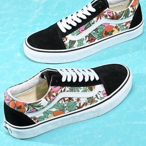 NWT Vans Old Skool Multi Tropic Floral W7, M5.5